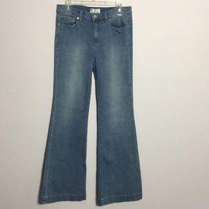 Free People • High Waist Wide Leg Jeans